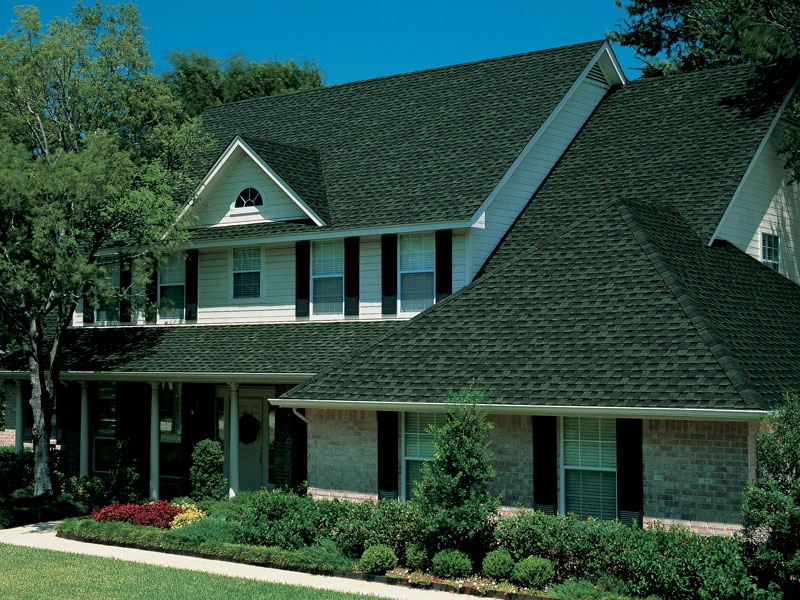 GAF Timberline asphalt shingles Hunter green