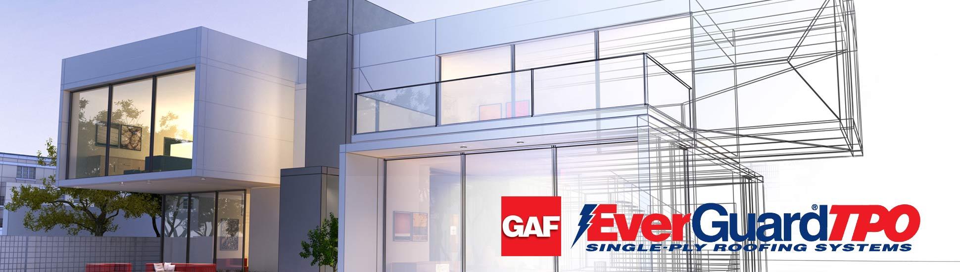GAF TPO design graphics low slope