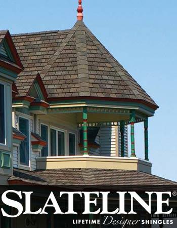 GAF Slateline asphalt shingles