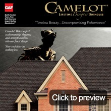 Asphalt shingles camelot brochure