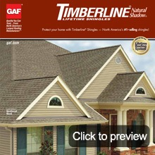 Asphalt shingles Timberling natural shadow brochure