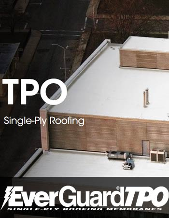 TPO single ply roof water proofing