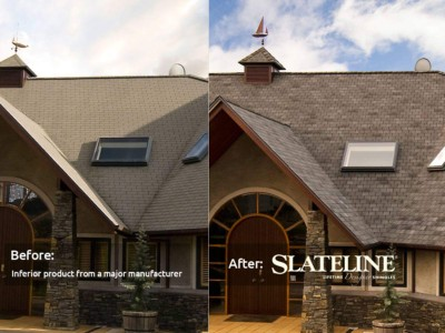 GAF Slateline before after