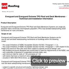 TPO everguard roof specifications
