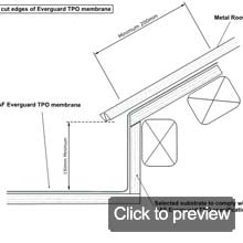 metal roof to TPO
