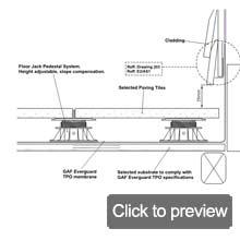 TPO pedestal deck system