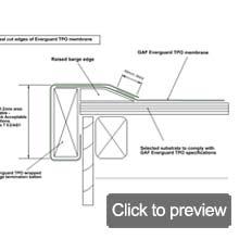 TPO barge wrap detail