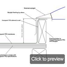 TPO everguard skylight