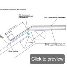 TPO everguard to metal roof